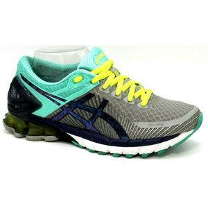 Asica Womens Ge-Kinsei 6 Gray Blue Sneakers Sz 7.5